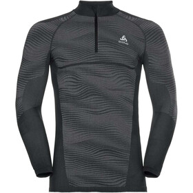 Odlo Suw Performance 1/2 LS Zip Turtle Neck Men black-odlo concrete grey-silver